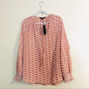 Walter Baker Embroidered terracotta blouse size XL